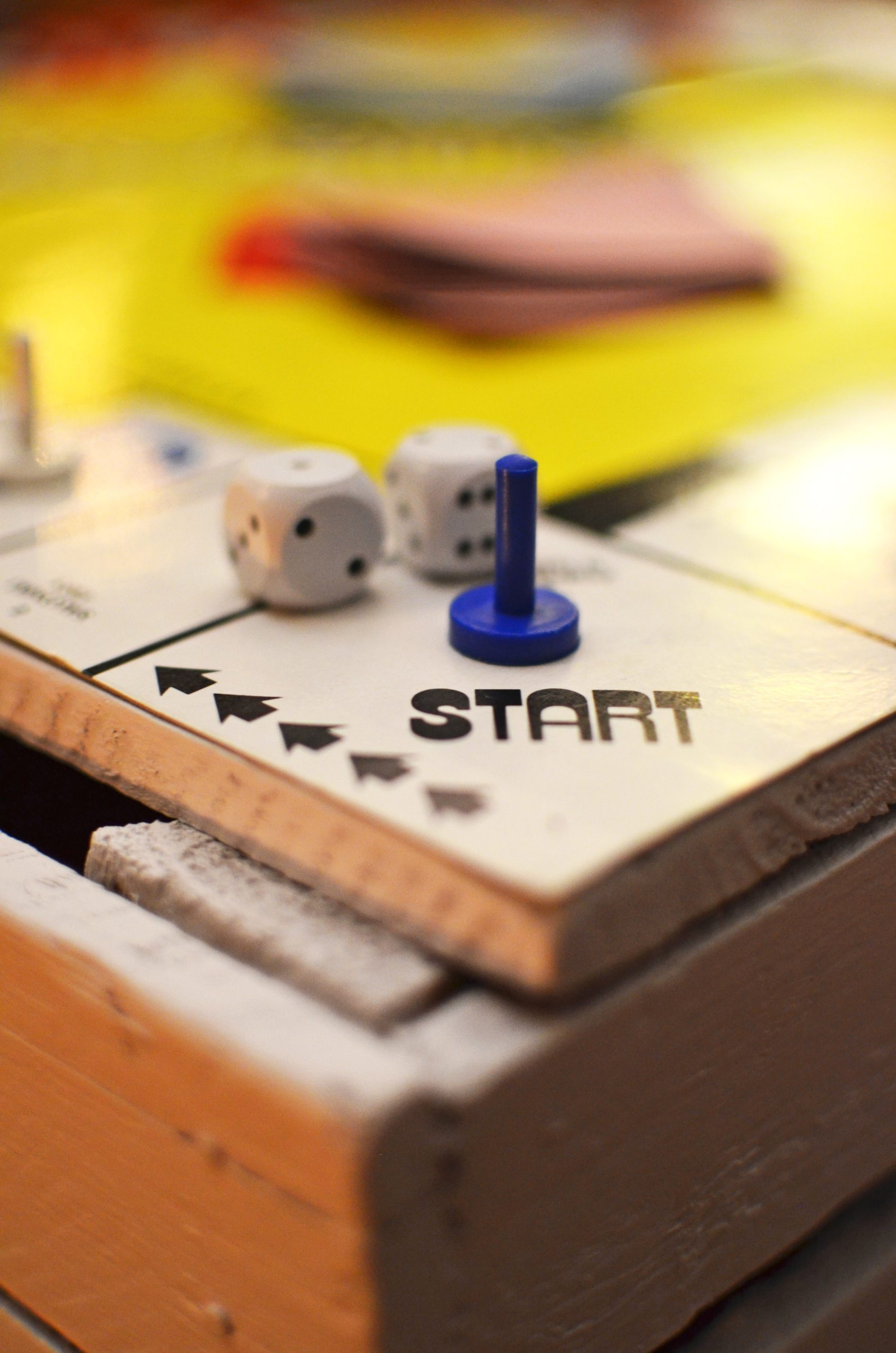 The start block of a game board.